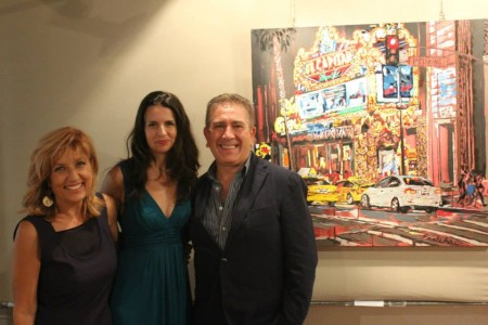 Brooke with Italian artist Elena Sevi and guest.