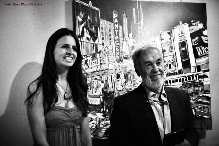 Brooke with curator Alfio Borghese.
