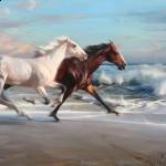 ruo li horse painting